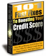 101-fast-fixes-to-boosting-your-credit-score-plr