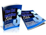 List-Building-Bible-Covers private label rights Private Label Rights and PLR Products List Building Bible Covers