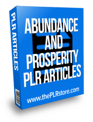 abundance and prosperity plr articles