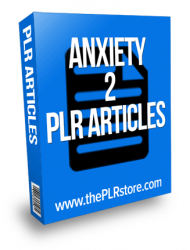 anxiety plr articles