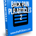 back pain plr articles