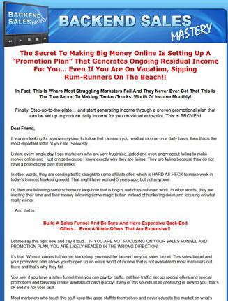 backend sales mastery plr Backend Sales Mastery PLR Ready To Sell Package backend sales mastery plr