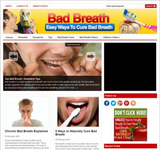 Bad Breath PLR Website with Private Label Rights bad breath plr website cover 327x307