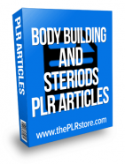 body building and steroids plr articles