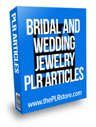 bridal and wedding jewelry plr articles