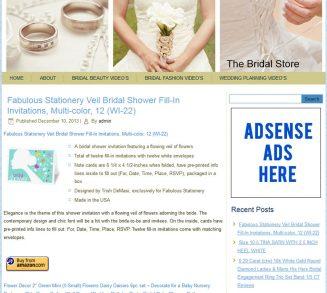 Bridal PLR Amazon Store Website bridal plr amazon store website cover 327x293
