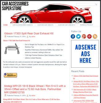 Car Accessories PLR Amazon Store Website car accessories plr amazon store website cover 327x333