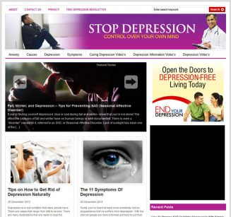 Depression PLR Website Deluxe with Private Label Rights depression plr website cover 327x307