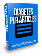 Diabetes PLR Articles