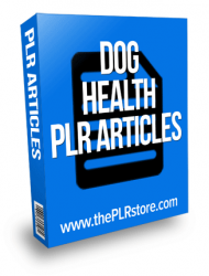 dog health plr articles