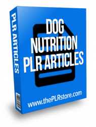 dog nutrition plr articles