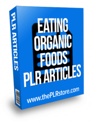 eating organic foods plr articles