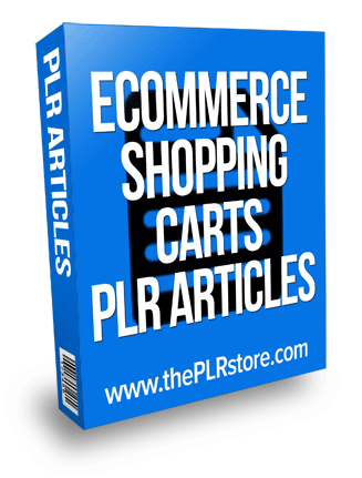 ecommerce shopping carts plr articles