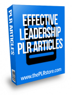 effective leadership plr articles