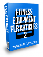 fitness equipment plr articles