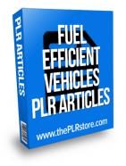 fuel efficient vehicles plr articles