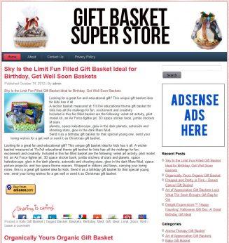Gift Basket PLR Amazon Pre-Loaded Website Store gift basket plr amazon store website main 327x346