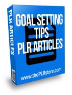 goal setting tips plr articles