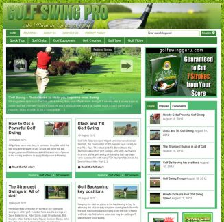 Golf Swing Pro PLR Website with private label rights golf swing pro plr website main 327x325