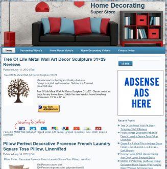 Home Decor PLR Amazon Store Website – Pre-Loaded home decorating plr amazon store main 327x331