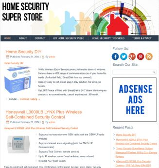 Home Security PLR Amazon Store Website home security plr amazon store website cover 327x345