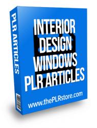 interior design plr articles windows coverings curtians