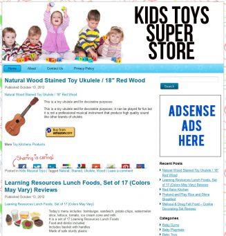 Kids Toys PLR Amazon Pre-Loaded Store Website kids toys plr amazon store website main 327x341