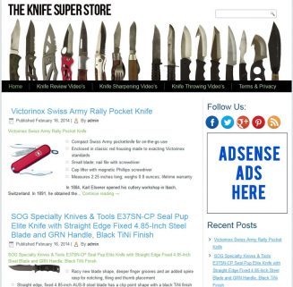 Knife PLR Amazon Store Website with Private Label Rights knife plr amazon store website cover 327x321