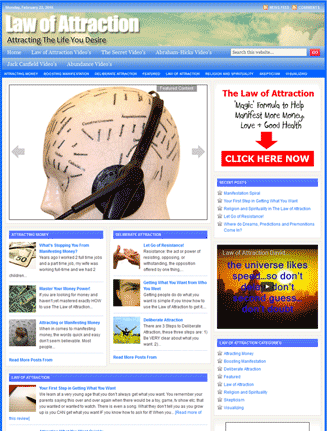 law of attraction plr website Law of Attraction PLR Website Adsense and Clickbank (DELUXE) law of attraction plr website