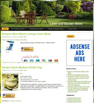 Lawn and Garden PLR Amazon Store Website lawn garden plr amazon store website main 327x355
