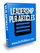 leadership plr articles