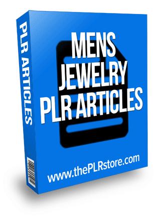 mens jewelry plr articles