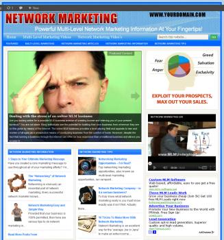 Network and Multi-Level Marketing PLR Website network multi level marketing plr website main 327x350