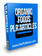 organic foods plr articles