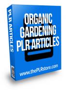 organic gardening plr articles