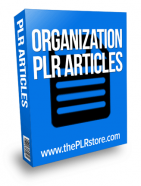 organization plr articles