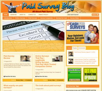 Paid Survey PLR Website with Private Label Rights paid survey plr website main 327x293