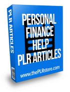 personal finance help plr articles