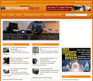 Photography PLR Website 2 with Amazon and Clickbank photography plr website amazon turnkey cover 327x283