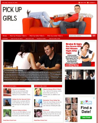 pick up girls plr website Pick Up Girls PLR Website with Bonuses pick up girls plr website main page 327x412