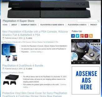 Playstation 4 PLR Amazon Turnkey Store Website playstation 4 plr amazon store website cover 327x311