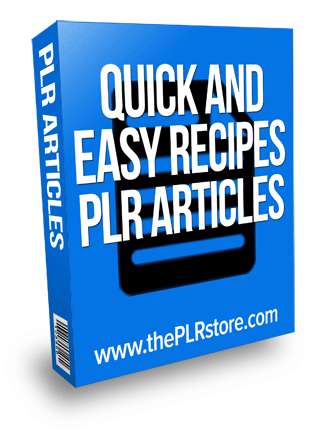 quick and easy recipes plr articles