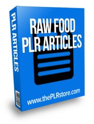 raw food plr articles