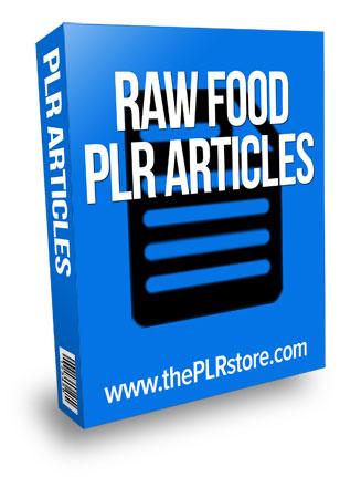 raw food plr articles