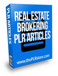 real-estate-brokering-plr-articles