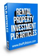 rental property investment plr articles