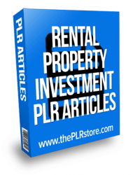 rental property investment plr articles