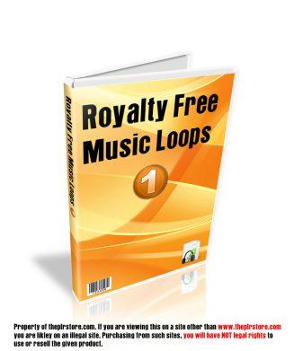 Royalty Free PLR Music Loops 1 Audio royalty free plr music loops 1 cover 327x391