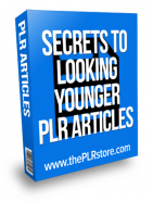 secrets to looking younger plr articles