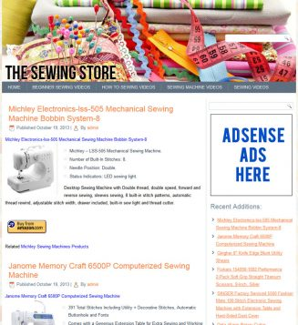 Sewing Store PLR Amazon Turnkey Website sewing plr amazon store website cover 327x357